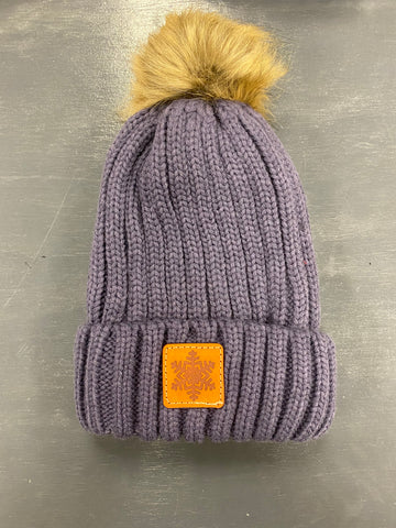 FITF Knit Beanie With Fur Pom