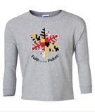 Youth Long Sleeve Tee with Flag Flake