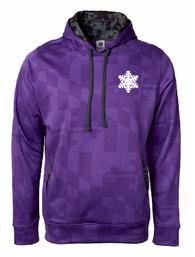 Purple FITF Maryland Flag Hoodie