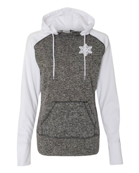 Ladies Hooded Sweatshirt with Thumb Holes