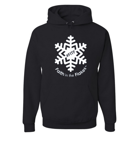 Adult Hoodie with White Flake