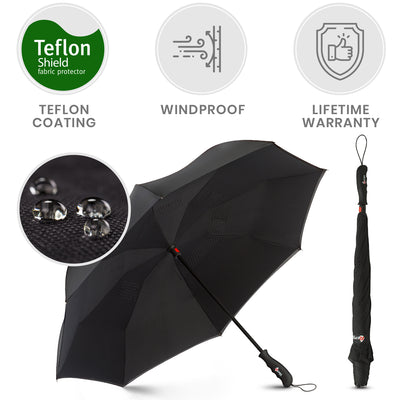 Reverse Folding Umbrella - Black