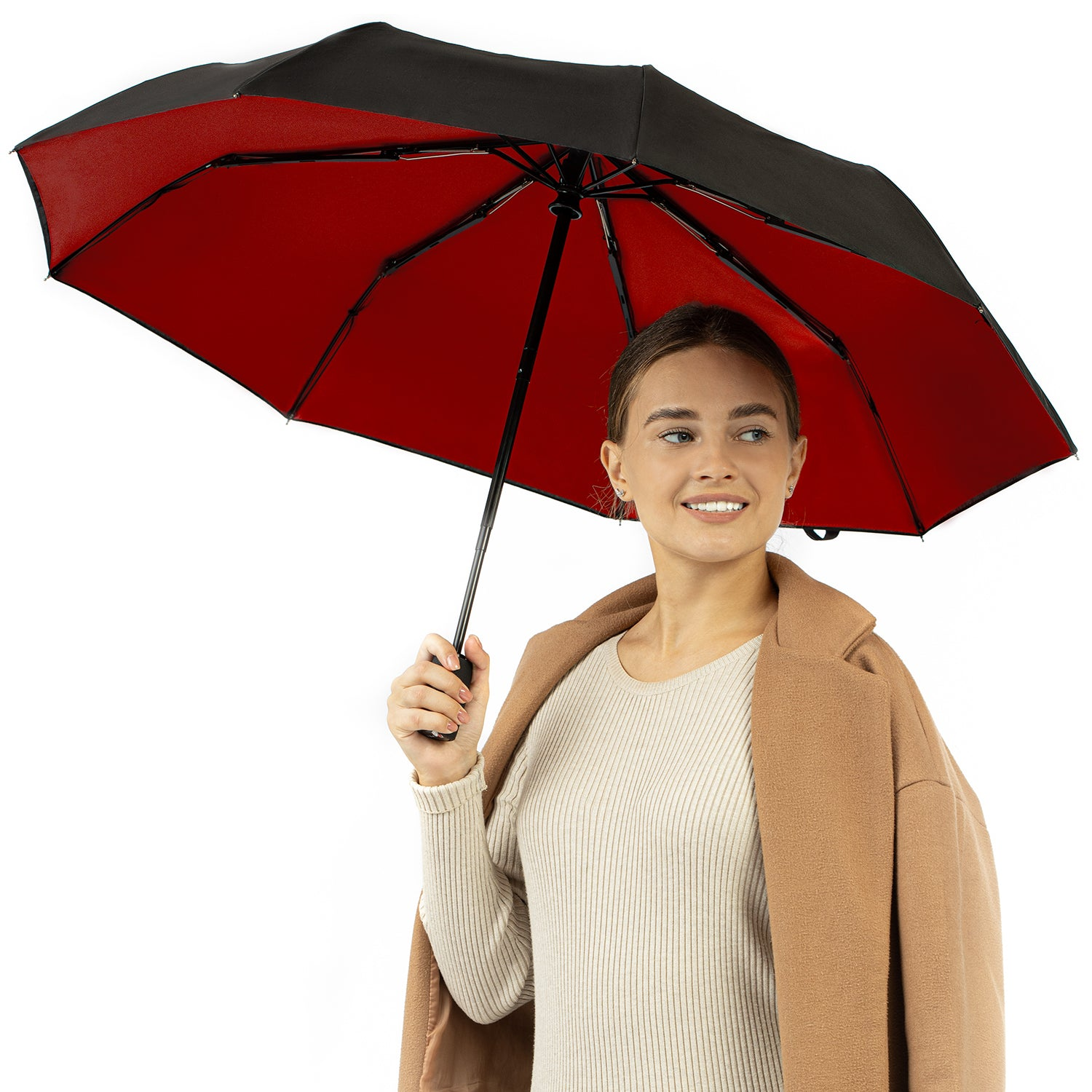 Travel Umbrella - Red\Black