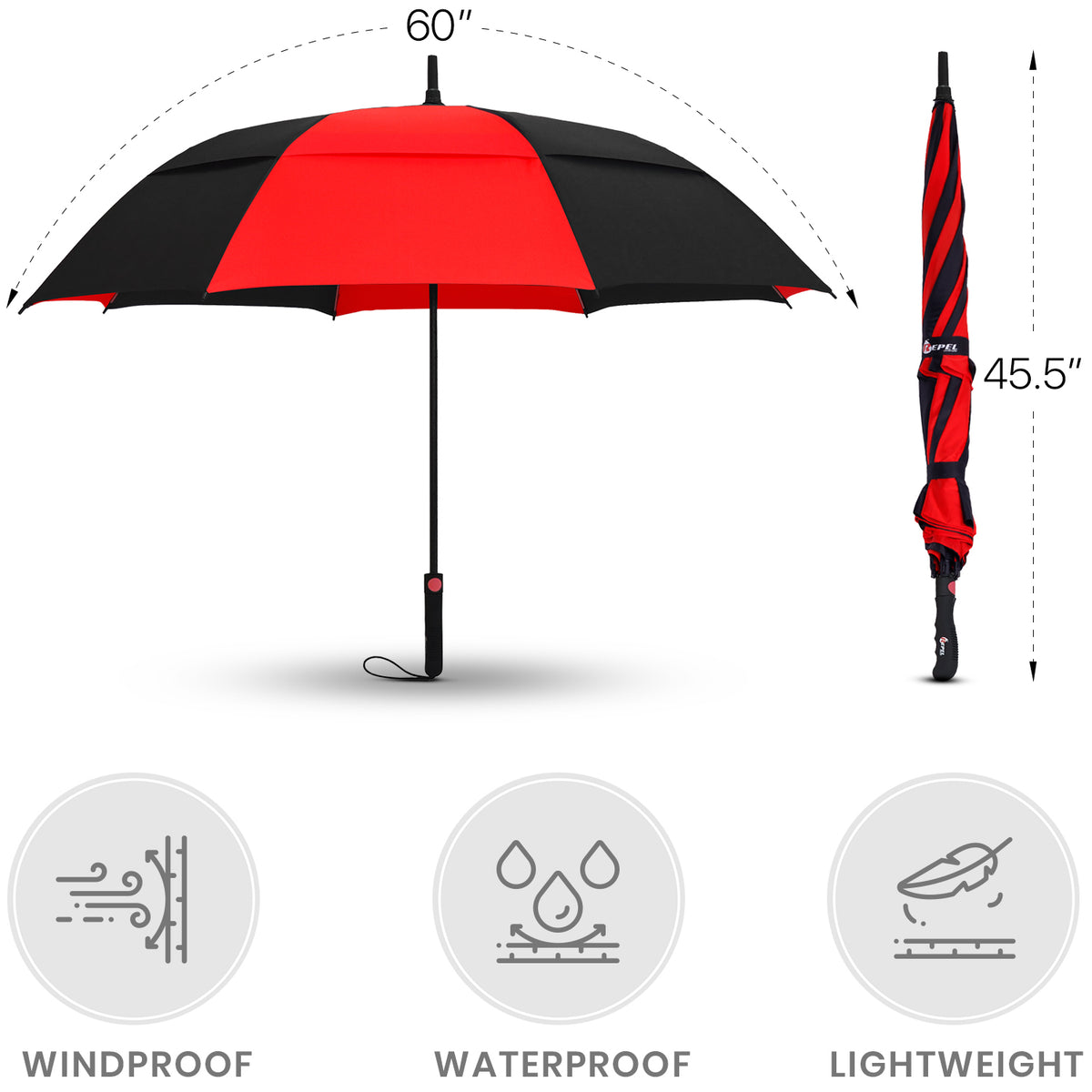 Red And Black Golf Umbrella