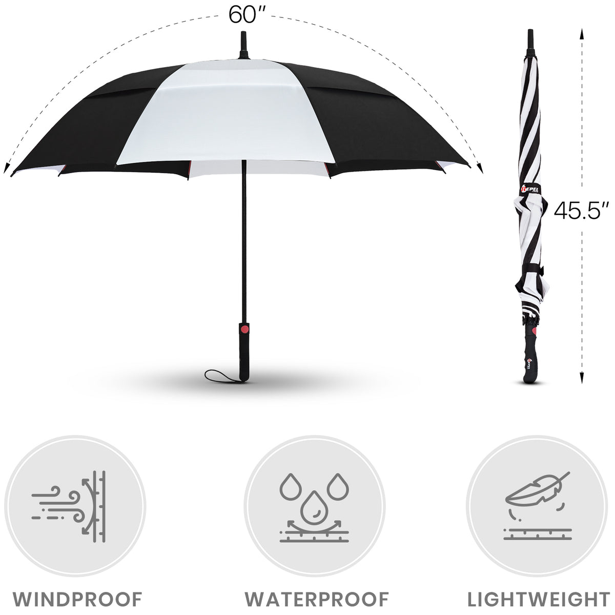 Black and White Golf Umbrella