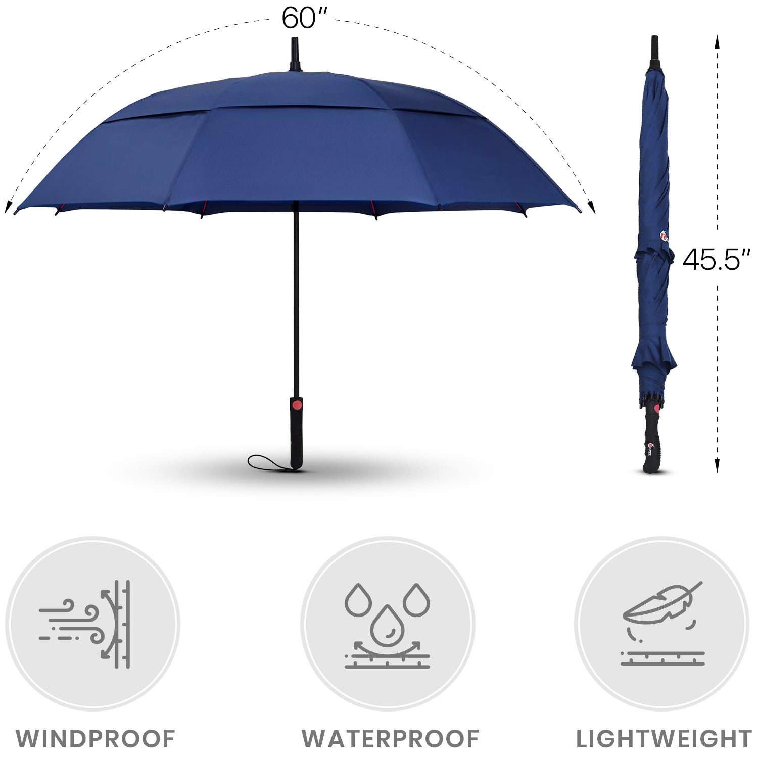 Navy Blue Golf Umbrella