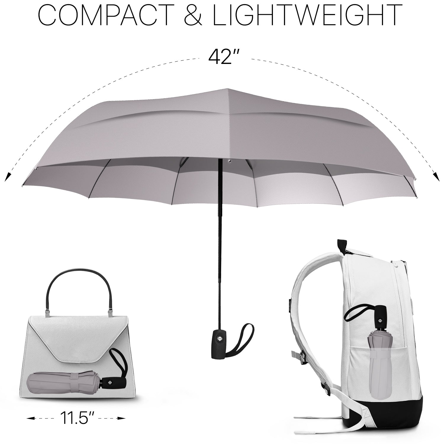 Travel Umbrella - Gray