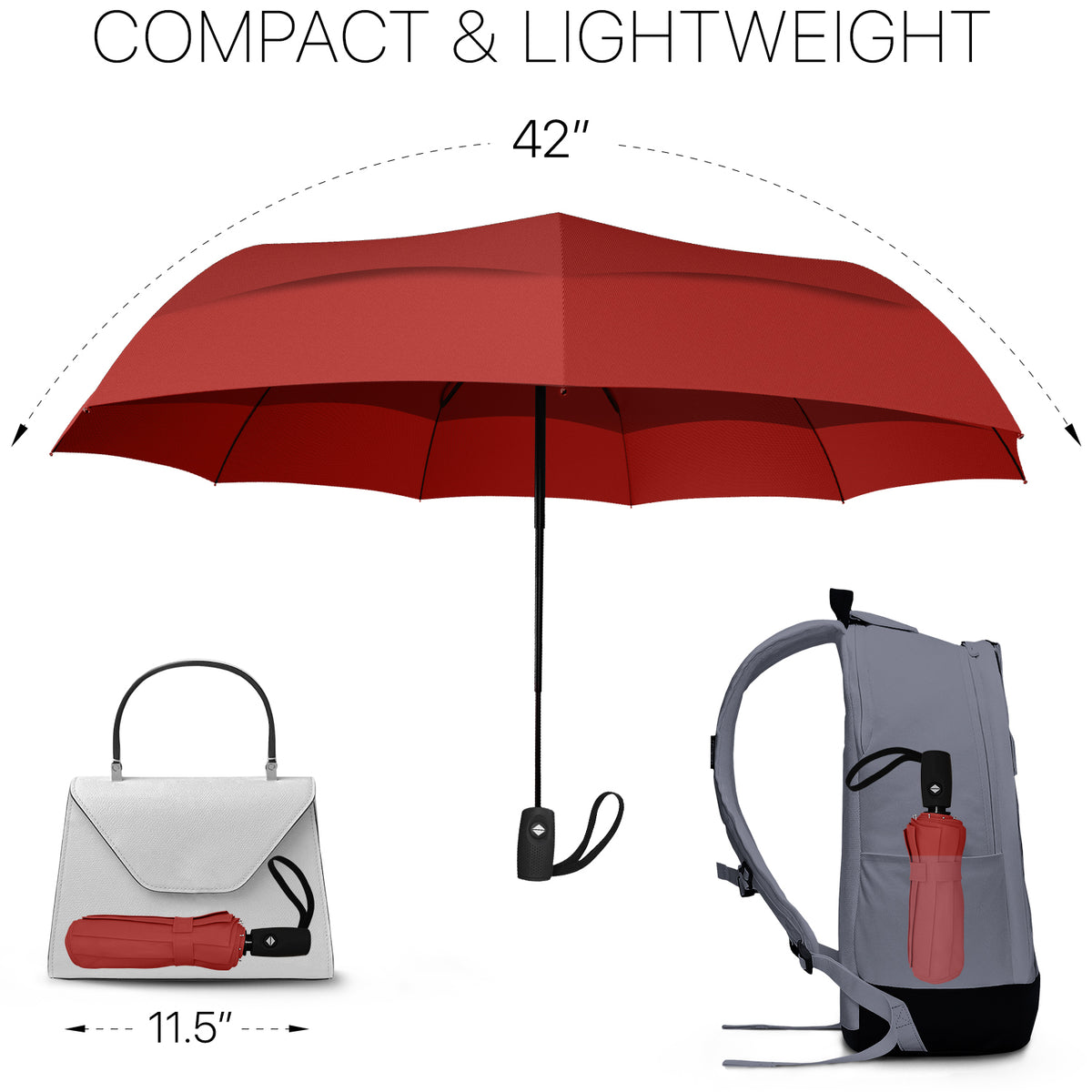 Travel Umbrella - Red