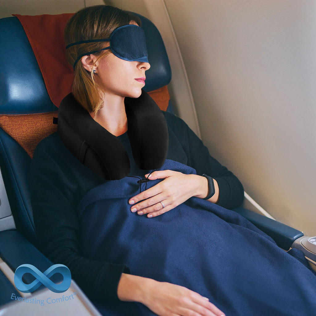 girl sleeping on the plane