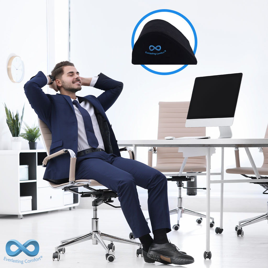 man resting in the office