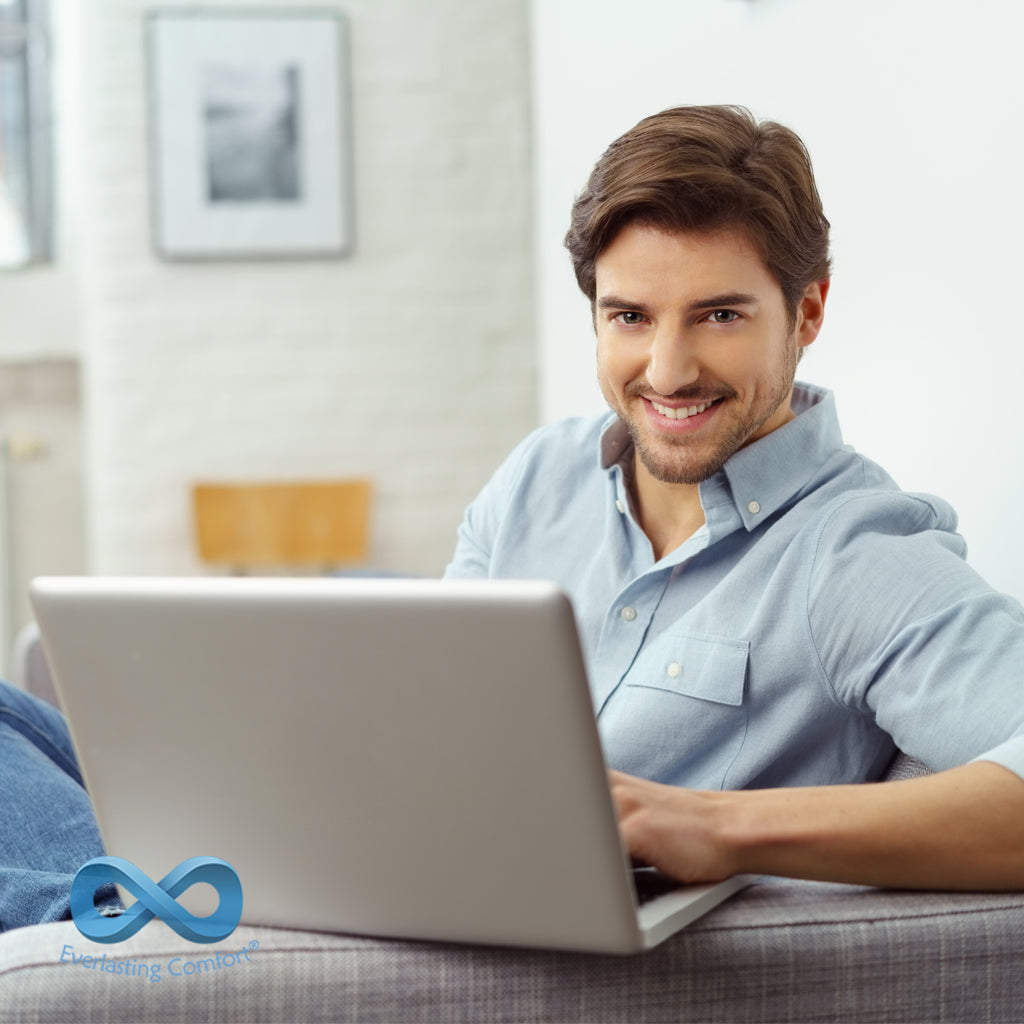 young man working at the computer