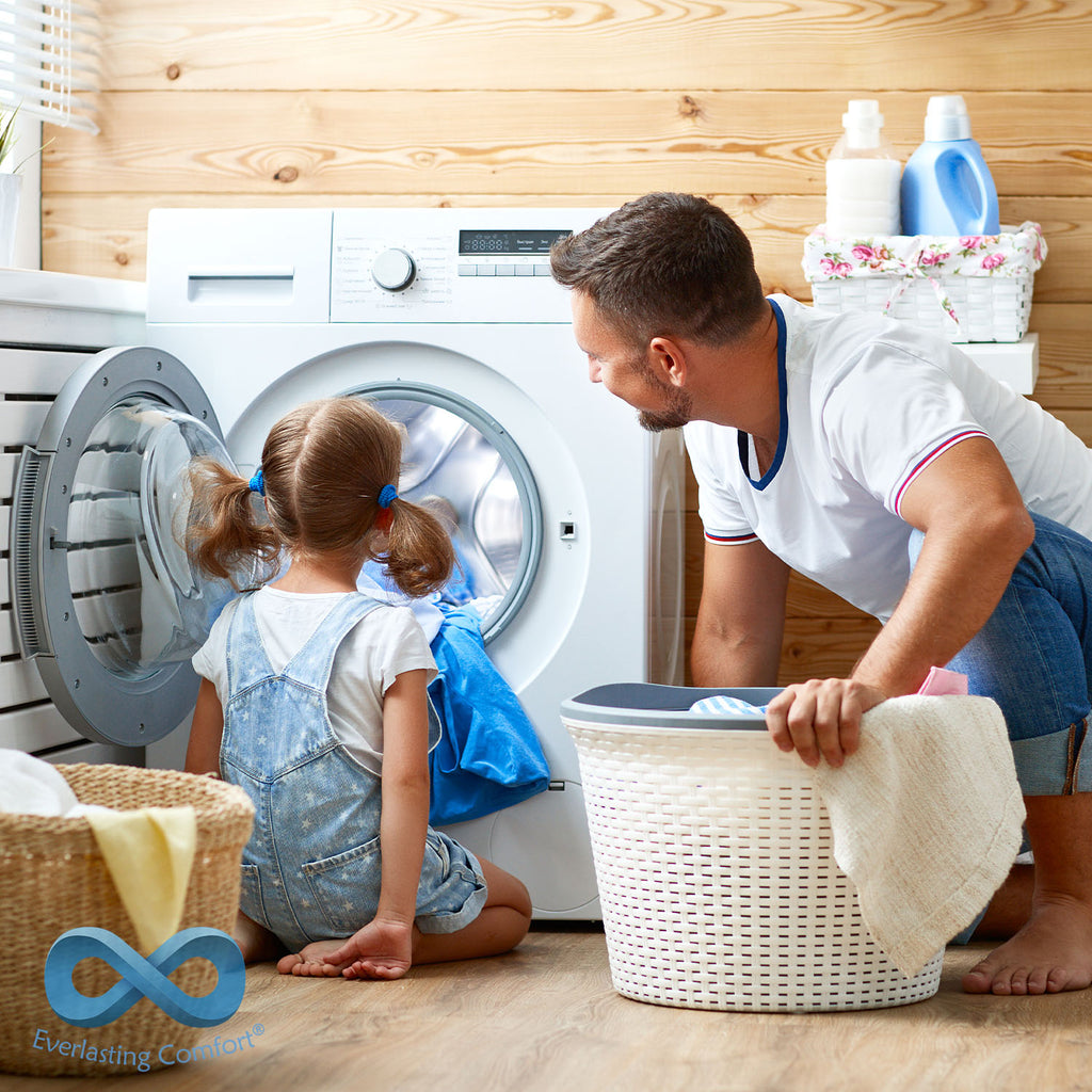 dad and daughter wash