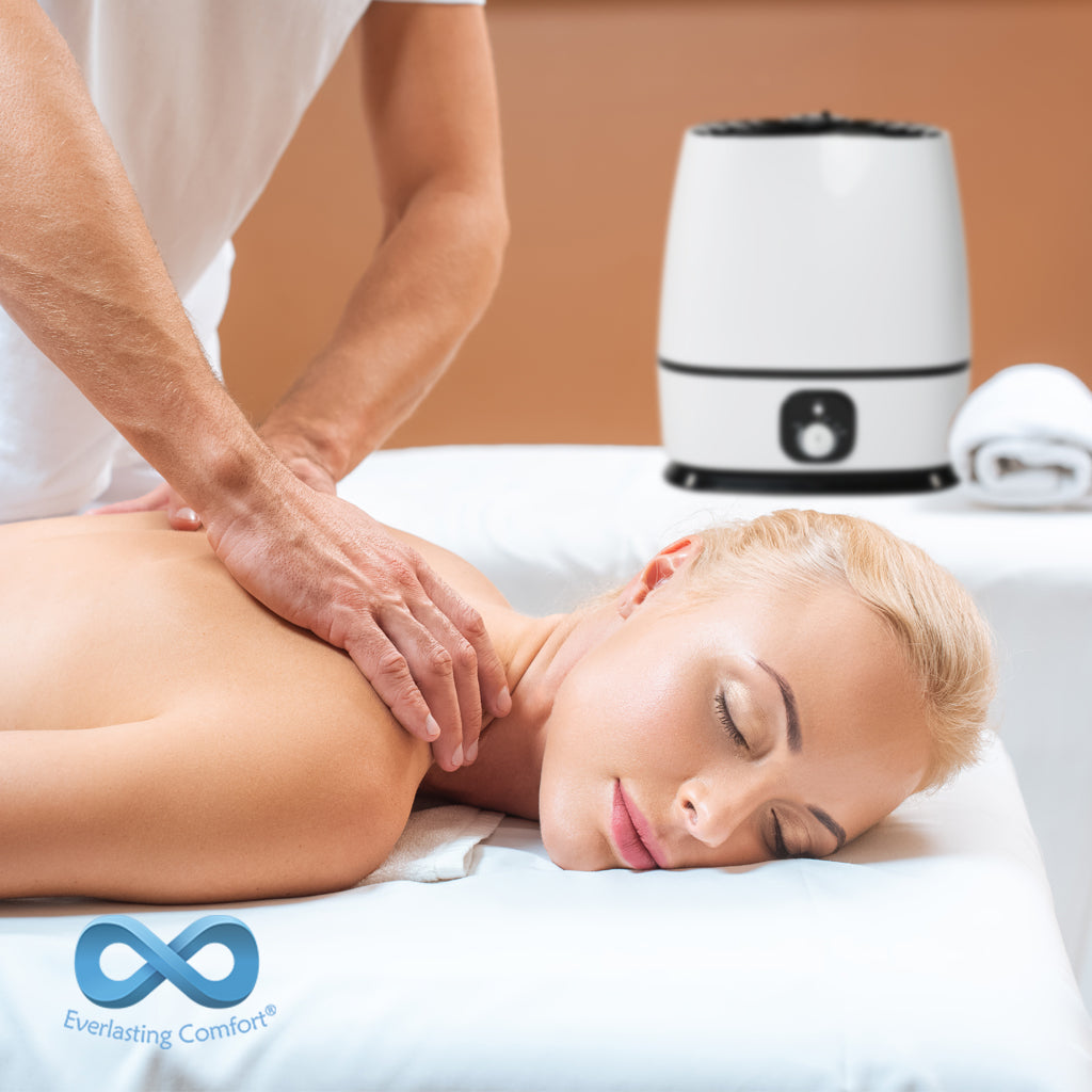 girl enjoys a massage