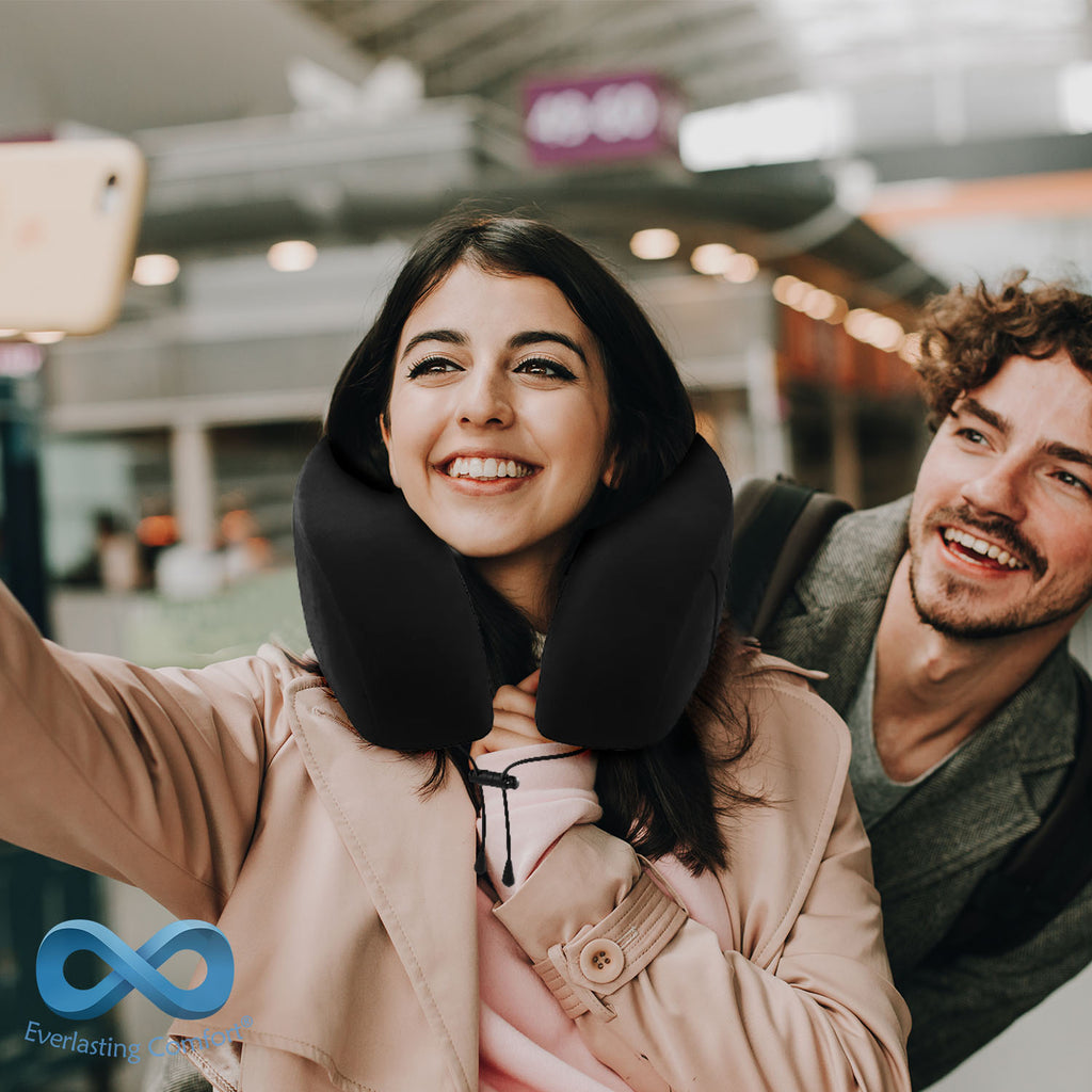 young couple take a selfie