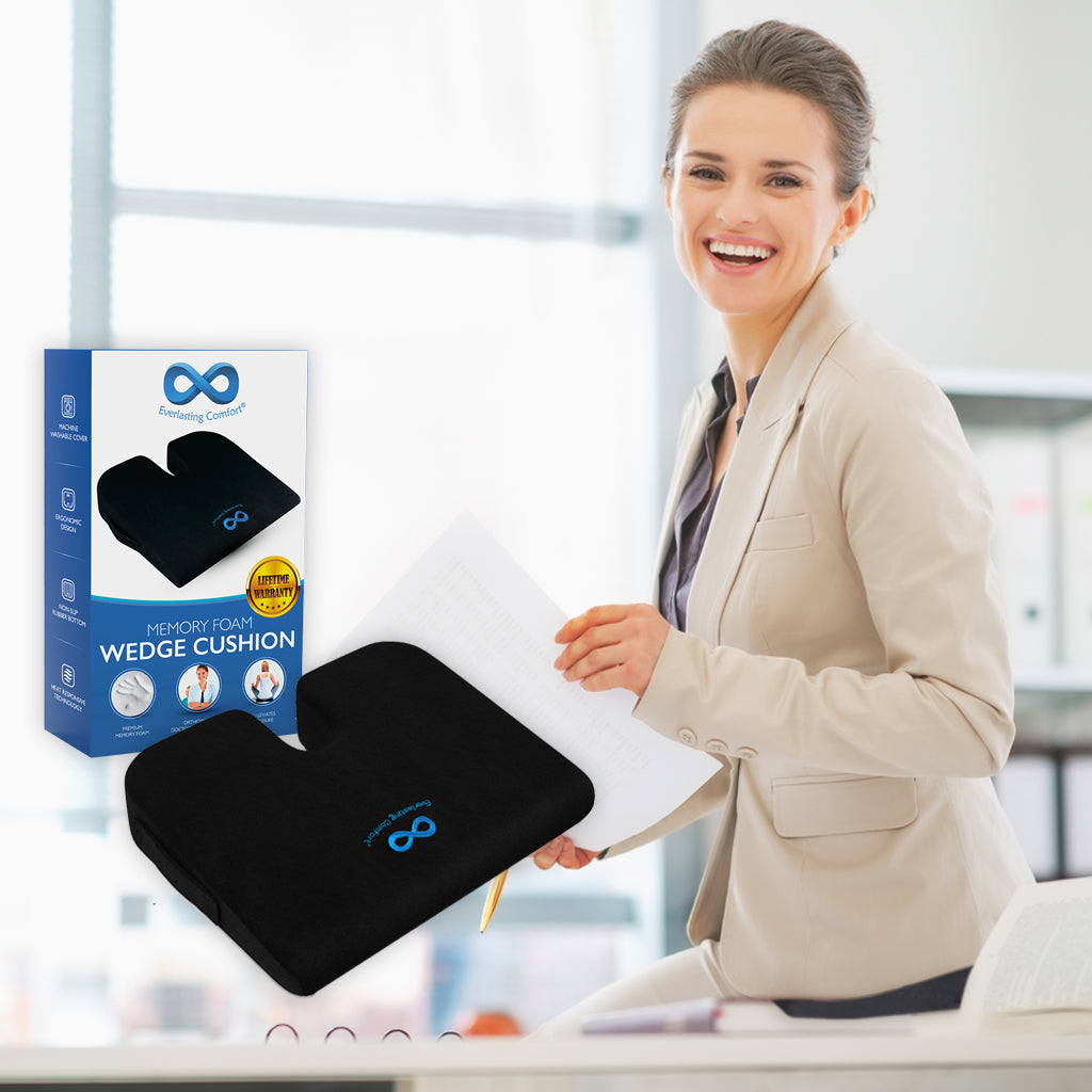 girl with documents in the office laughing