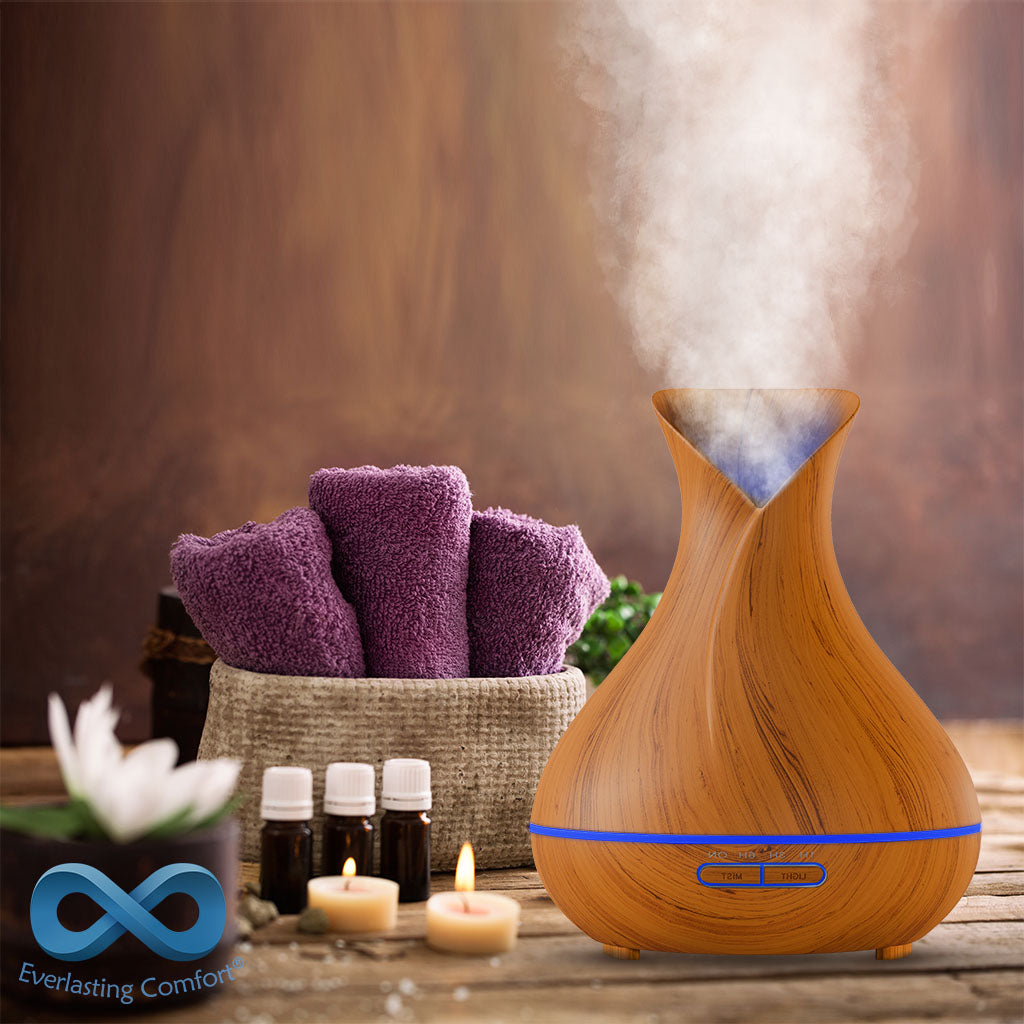 oil diffuser on massage table