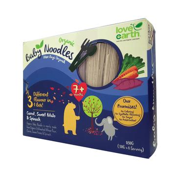 Baby Organic Noodle - Carrot, Sweet Potato & Spinach (40g x 5 bundles)