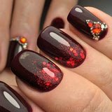 marble autumn nails 2017