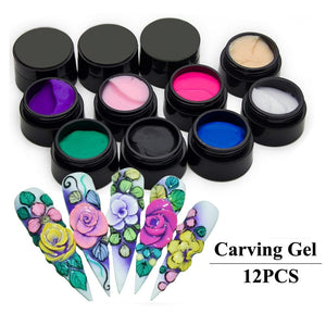 Nail Clay 12 color set - PicaPicaBeauty