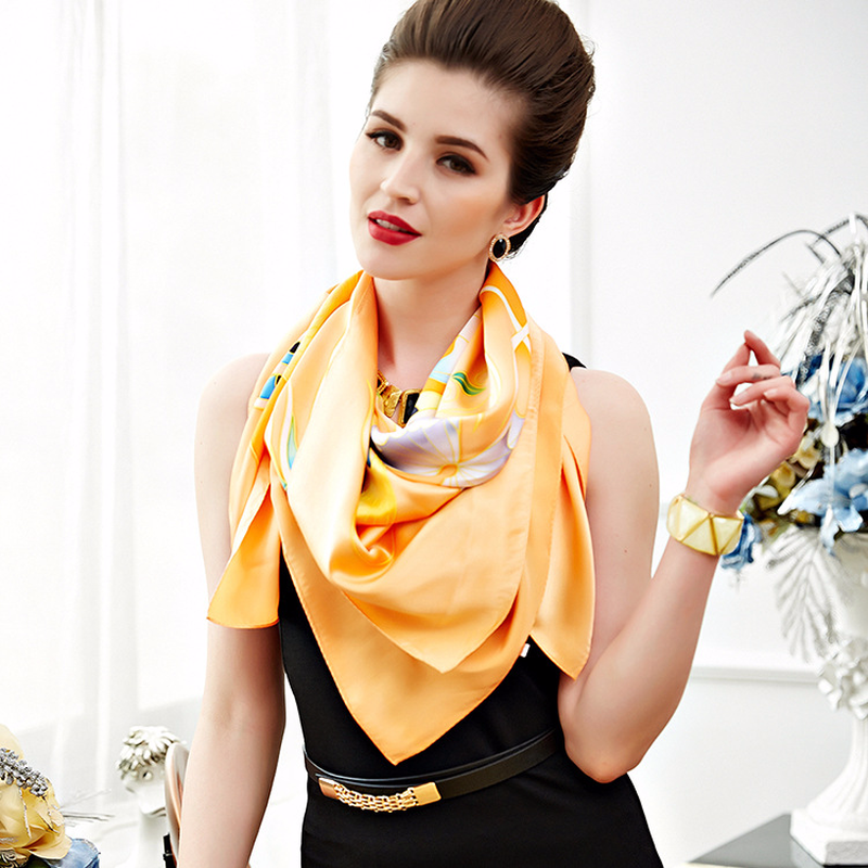 Real Silk Sunny Beach Floral Pareo/Scarf - PicaPicaBeauty