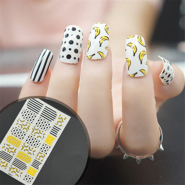 16 Tips Real Nail Polish Stickers - Bananarama-Stickers & Decals-PicaPicaBeauty