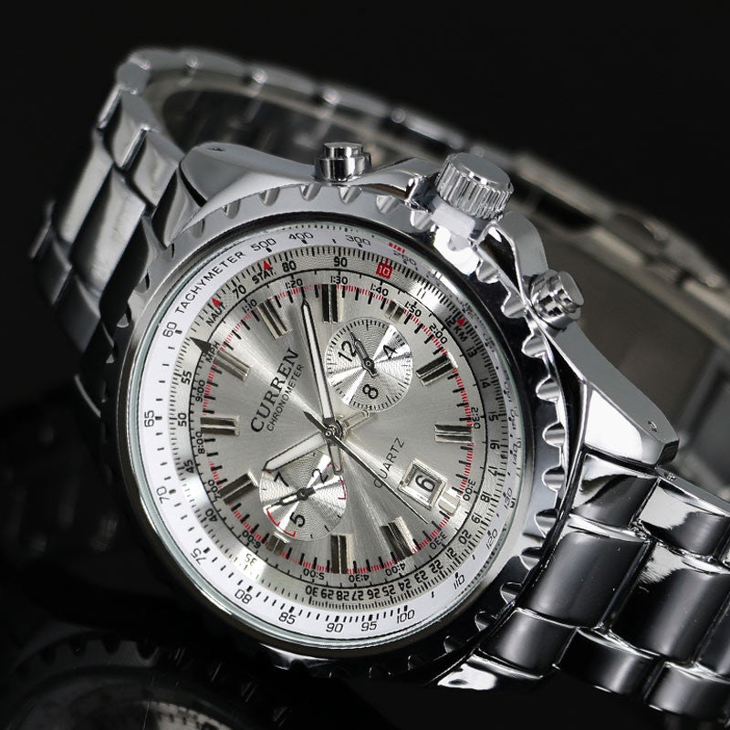 Elegant Stainless Steel Business Men's Watch - PicaPicaBeauty