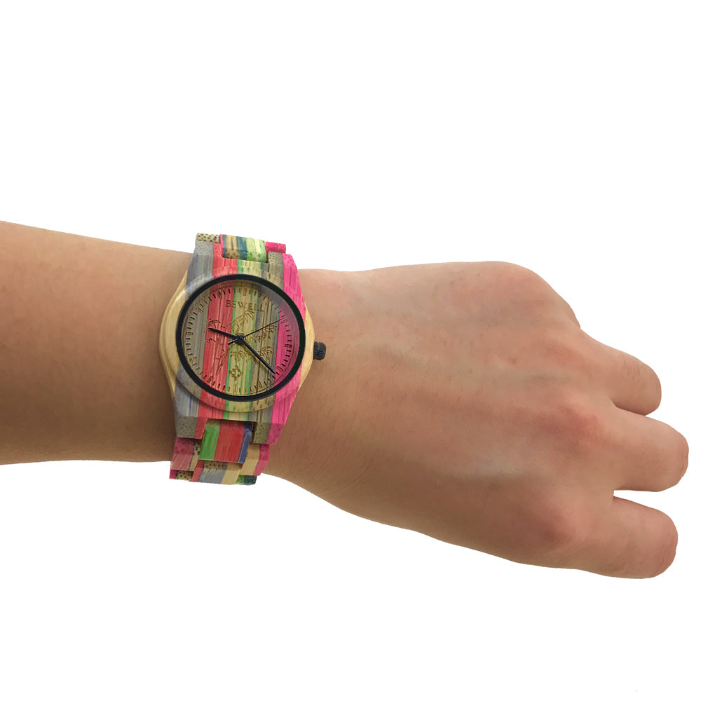 Bamboo Rainbow Women's Watch - PicaPicaBeauty