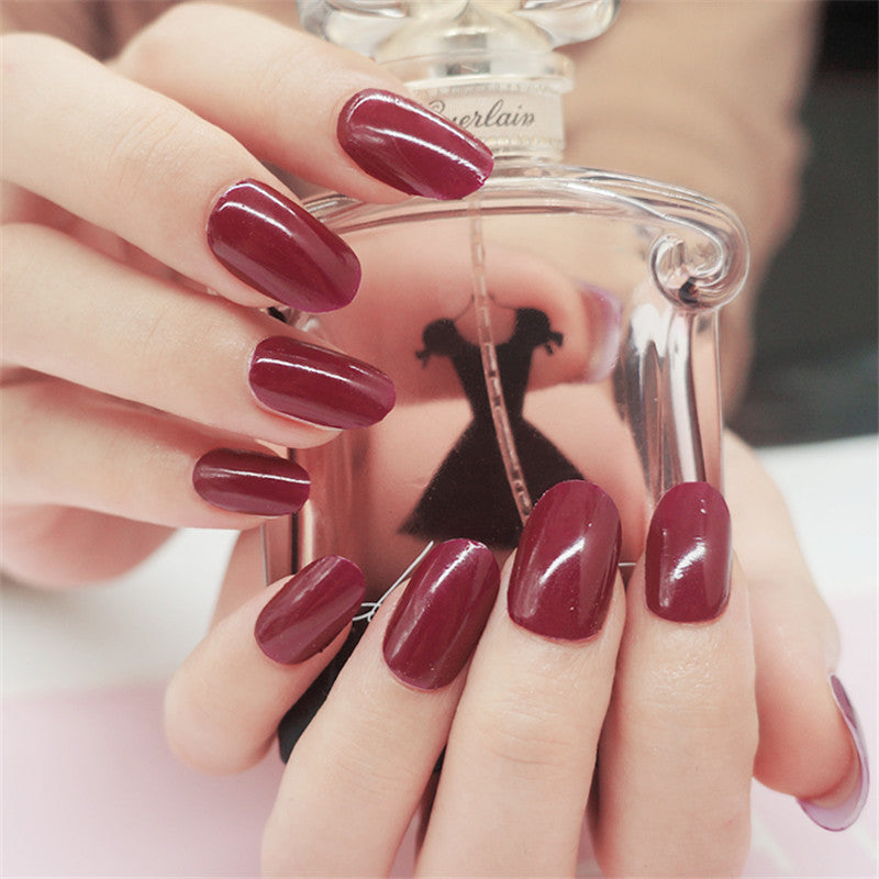 16 Nail Polish Stickers - Crimson - PicaPicaBeauty