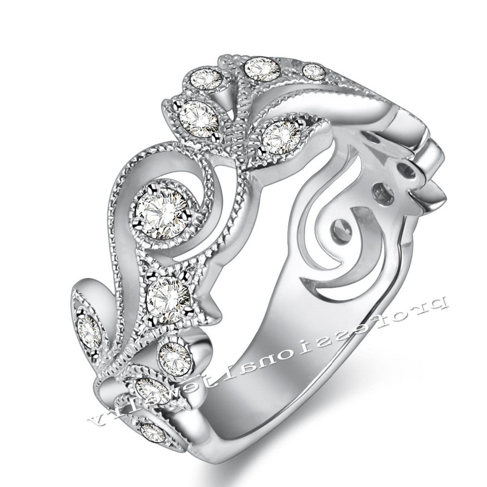 BLOSSOM Antique Flower Design Ring - PicaPicaBeauty