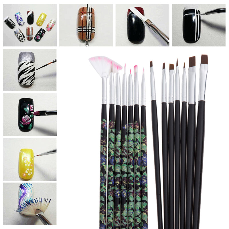 14pcs DIY Gel Nail Moulding/ Nail Art Set - PicaPicaBeauty