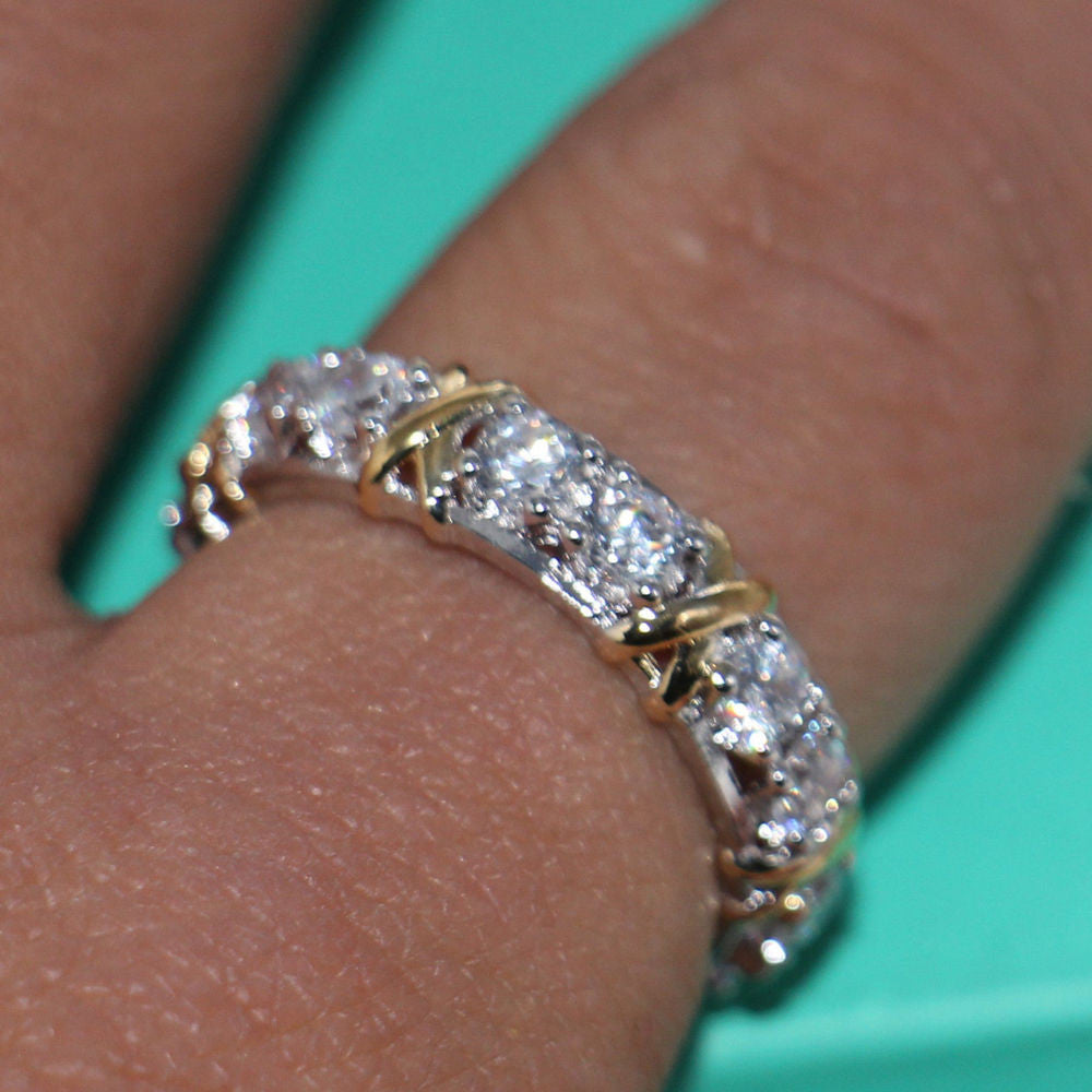 Handmade white gold Wedding Cross Ring - PicaPicaBeauty