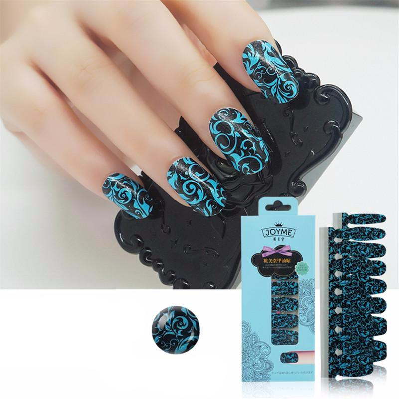 16 Nail Polish Stickers - Floral Gothic - PicaPicaBeauty
