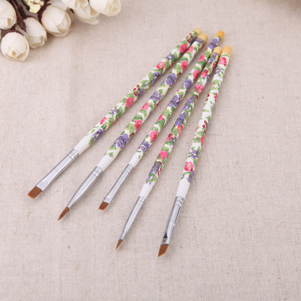 5pcs Nail Art Wooden Brushes Set - PicaPicaBeauty
