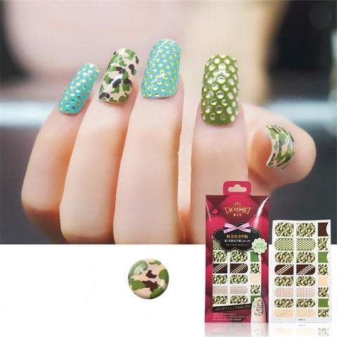 16 Tips Real Nail Polish Stickers - 3D Green-Stickers & Decals-PicaPicaBeauty