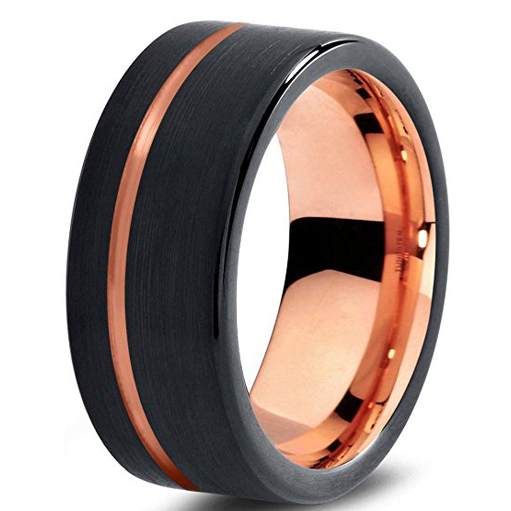 Rose Gold Matching Wedding Bands - PicaPicaBeauty