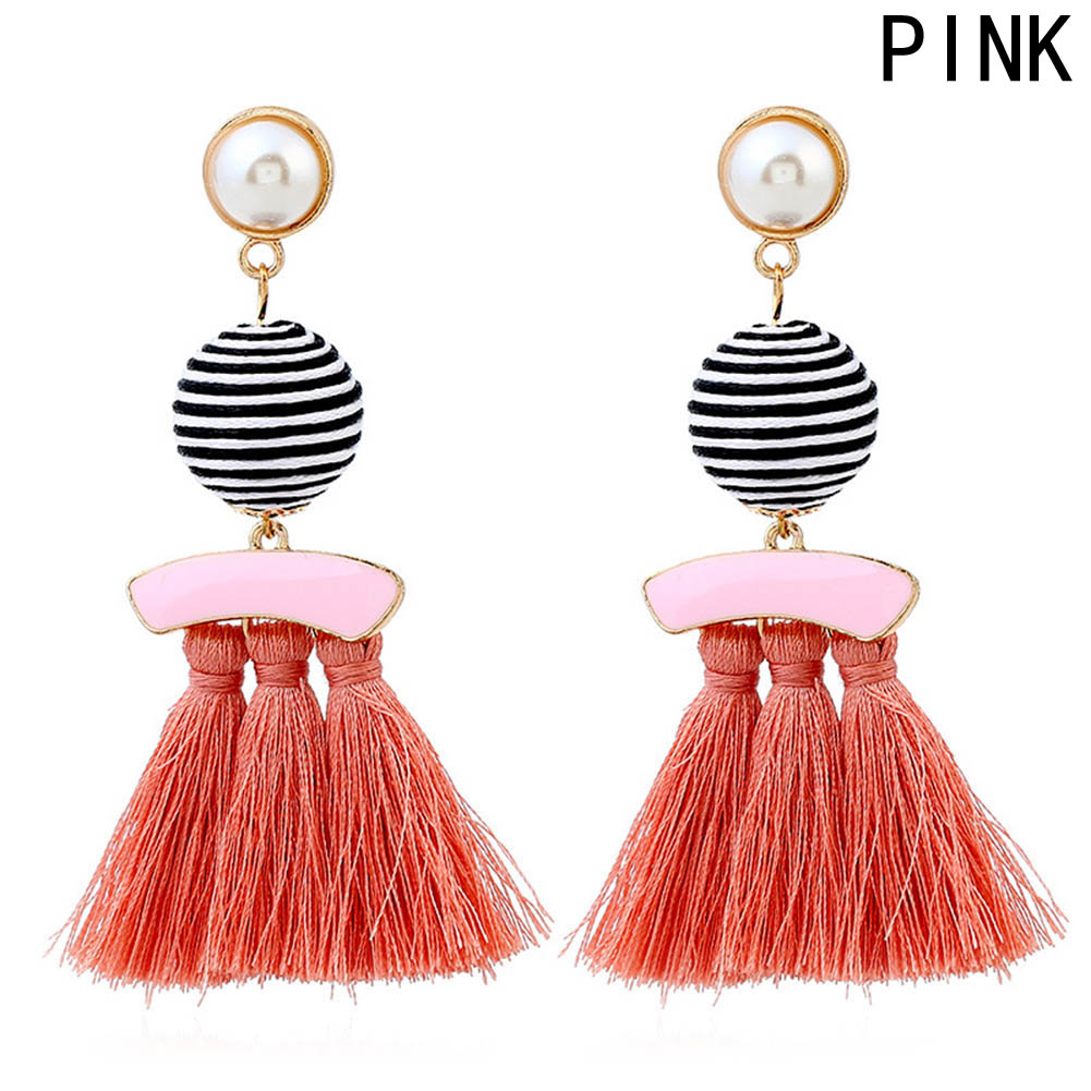 Leather Rope Dangle Earrings - PicaPicaBeauty