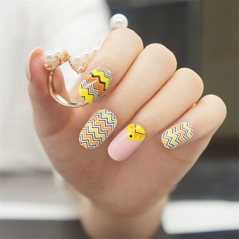 16 Nail Polish Stickers - Ethnic - PicaPicaBeauty