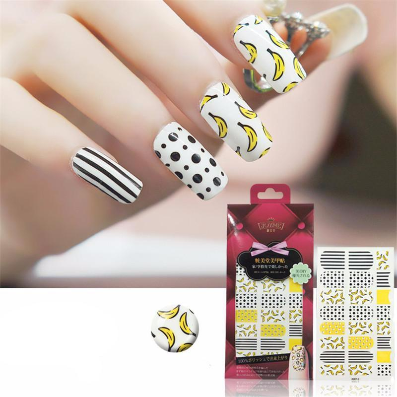 16 Tips Real Nail Polish Stickers - Bananarama - PicaPicaBeauty