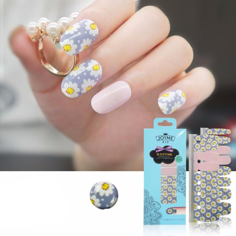 16 Nail Polish Stickers - Daisy - PicaPicaBeauty