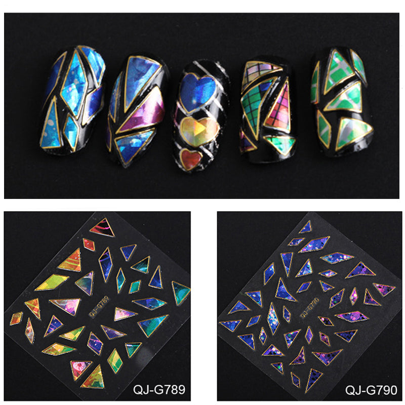 24pcs Broken Glass Nail Art Foil Assortment - PicaPicaBeauty