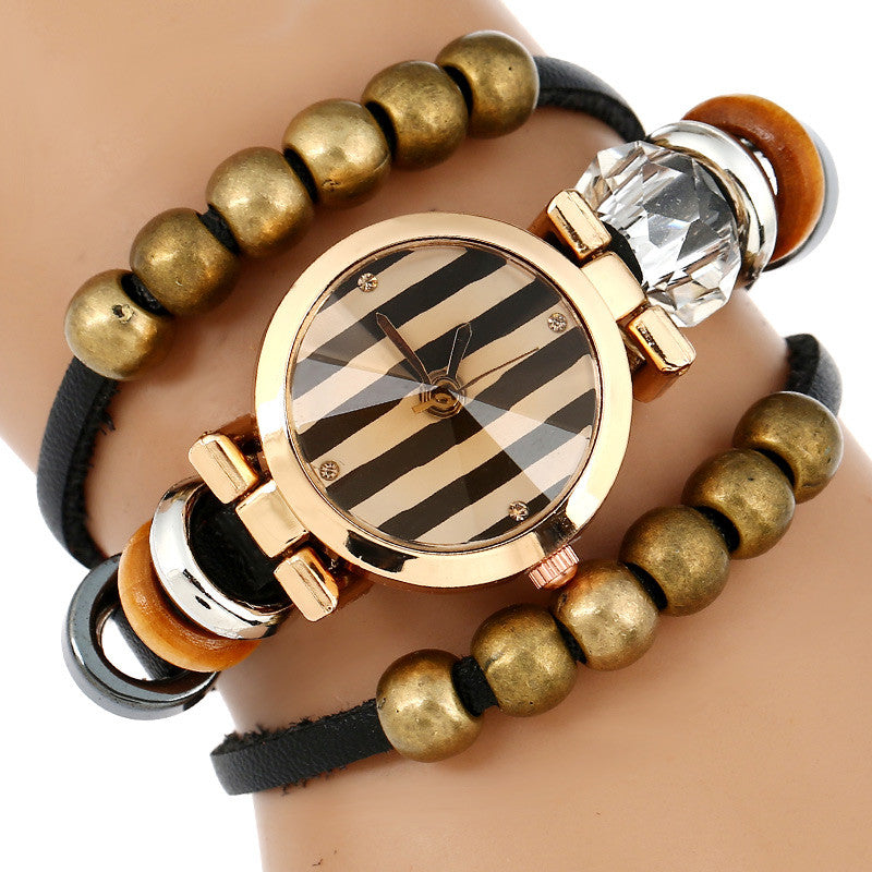 Fashion Triple Bracelet Wristwatch (Charm Fashion-dog) - PicaPicaBeauty