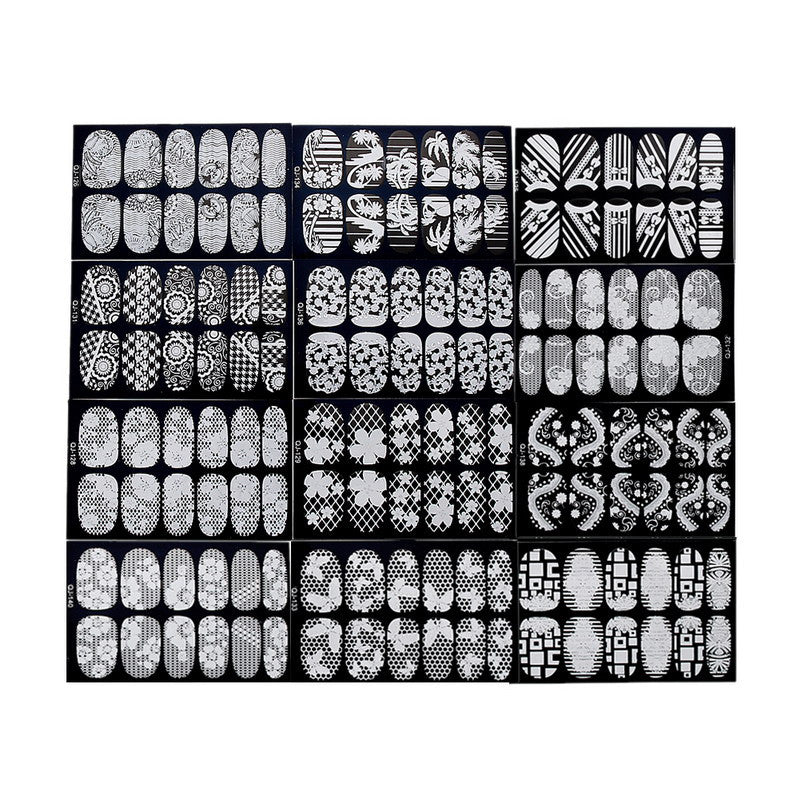 6 sheets 3D NAIL ART stickers - PicaPicaBeauty