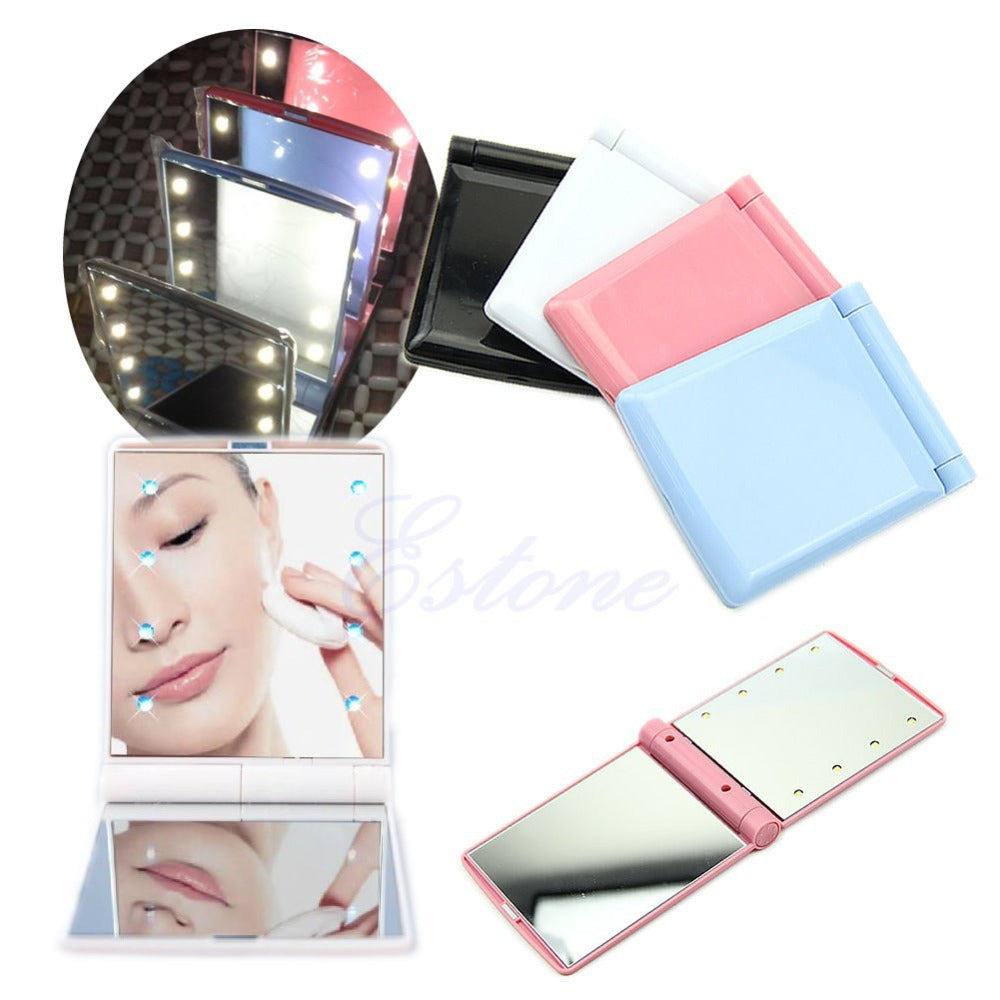 8 LED Lights Pocket Mirror - PicaPicaBeauty