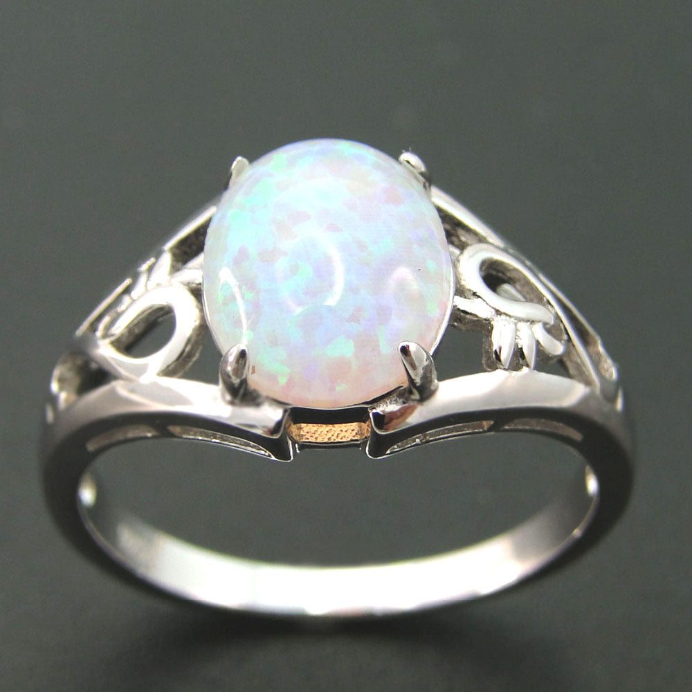 Funky Fire Opal Ring - PicaPicaBeauty