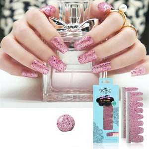 16 Nail Polish Stickers - Pink Dotty - PicaPicaBeauty