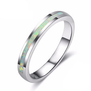 Band(ish) Opal Ring - PicaPicaBeauty