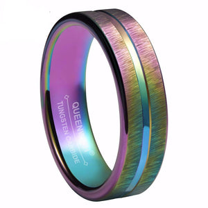 Rainbow Anodized Mens Ring - PicaPicaBeauty