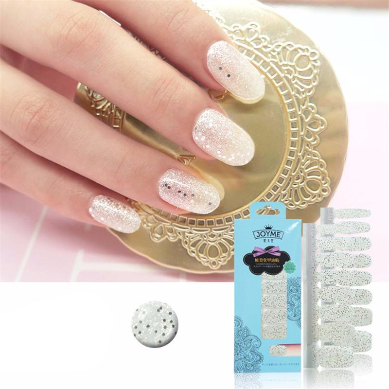 16 Tips Real Nail Polish Stickers - Champagne Bling - PicaPicaBeauty