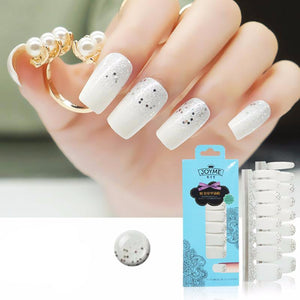 16 Nail Polish Stickers - Frosted - PicaPicaBeauty