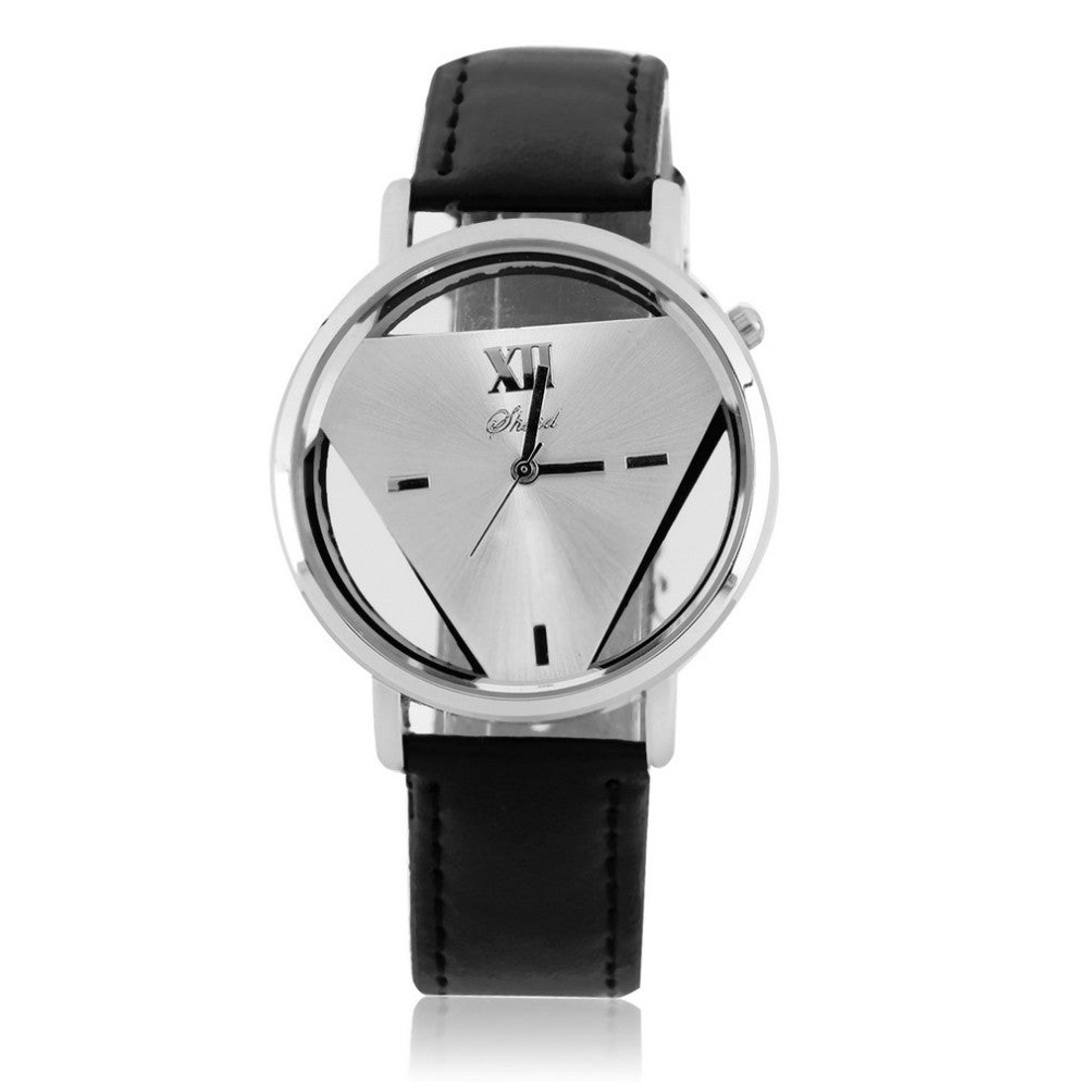 Geneva Platinum Leather wristwatch - PicaPicaBeauty